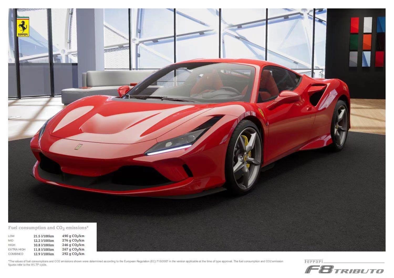 法拉利F8红色2021年09月