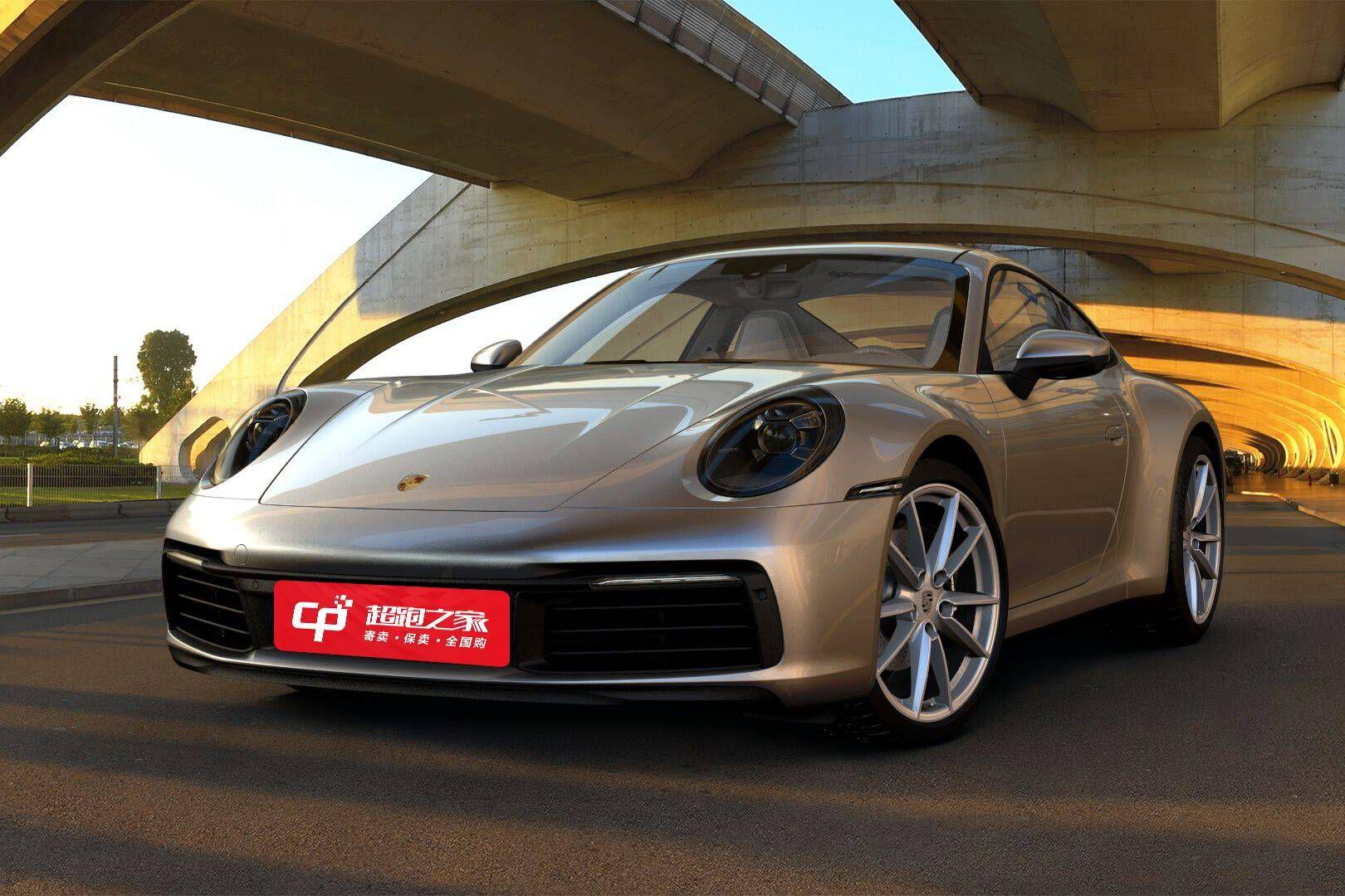 保时捷911银灰色2020年12月