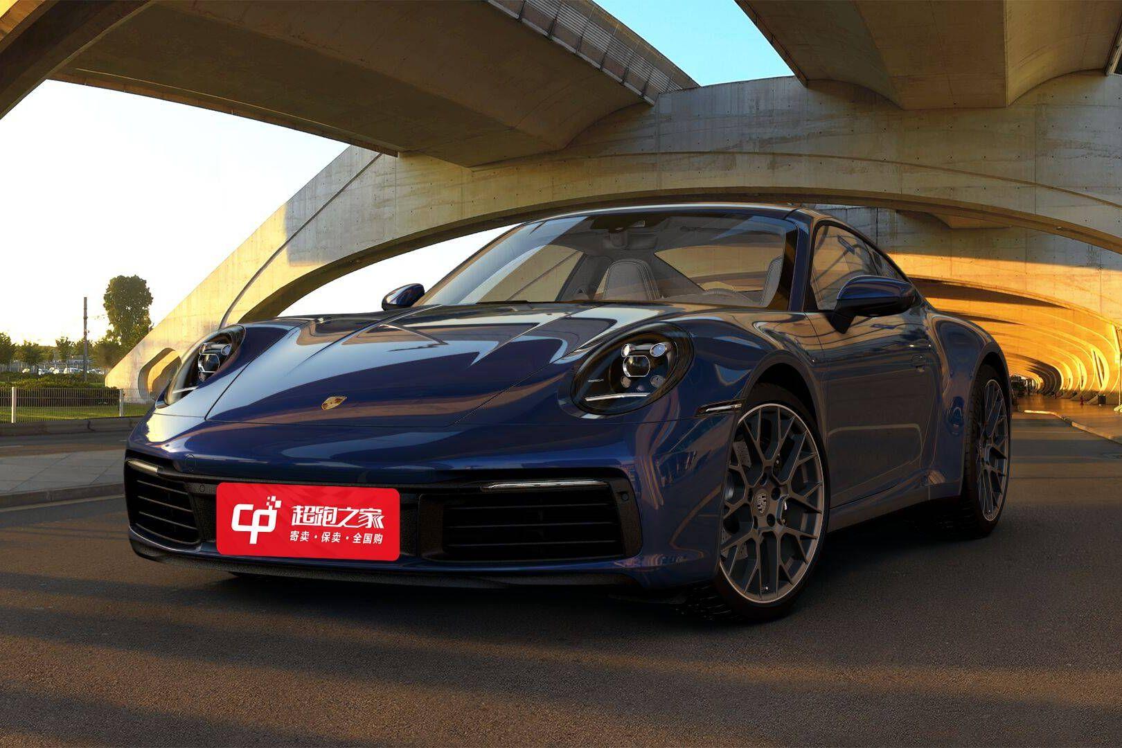 保时捷911蓝色2020年12月