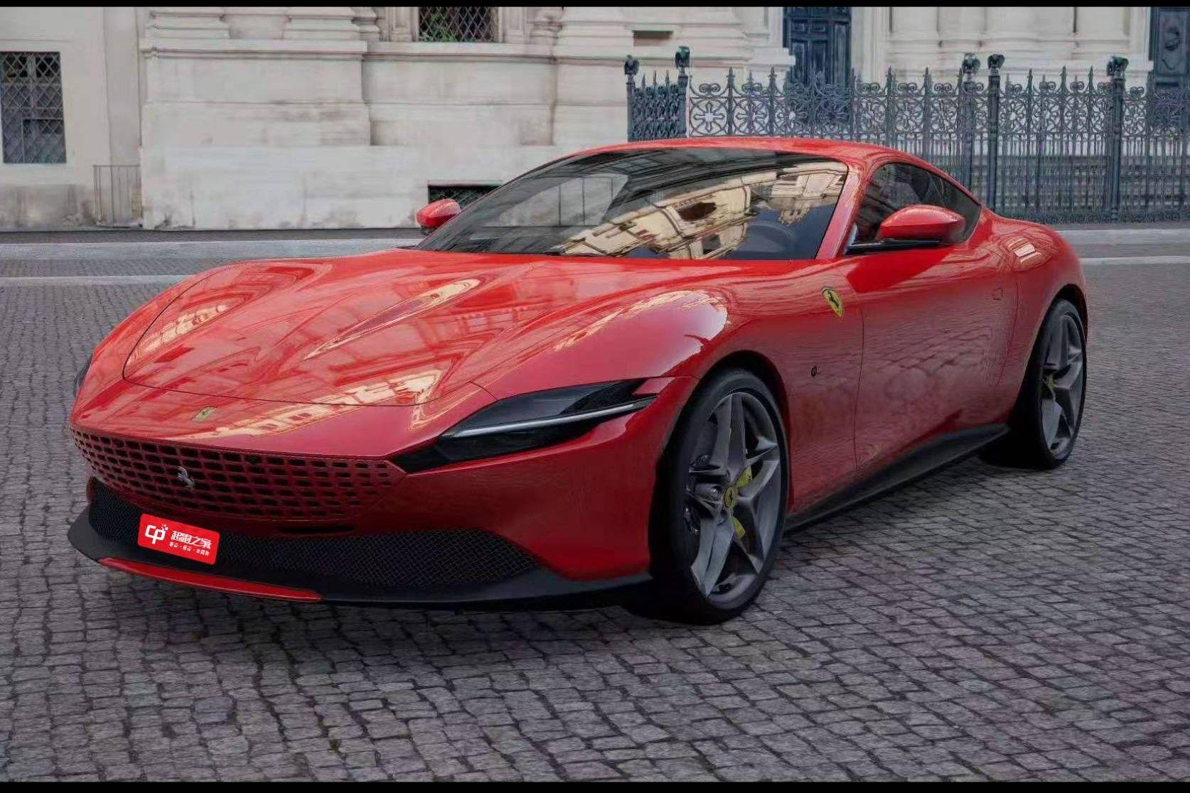 法拉利Roma红色2021年01月