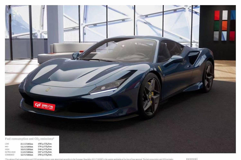 法拉利F8蓝色2021年01月