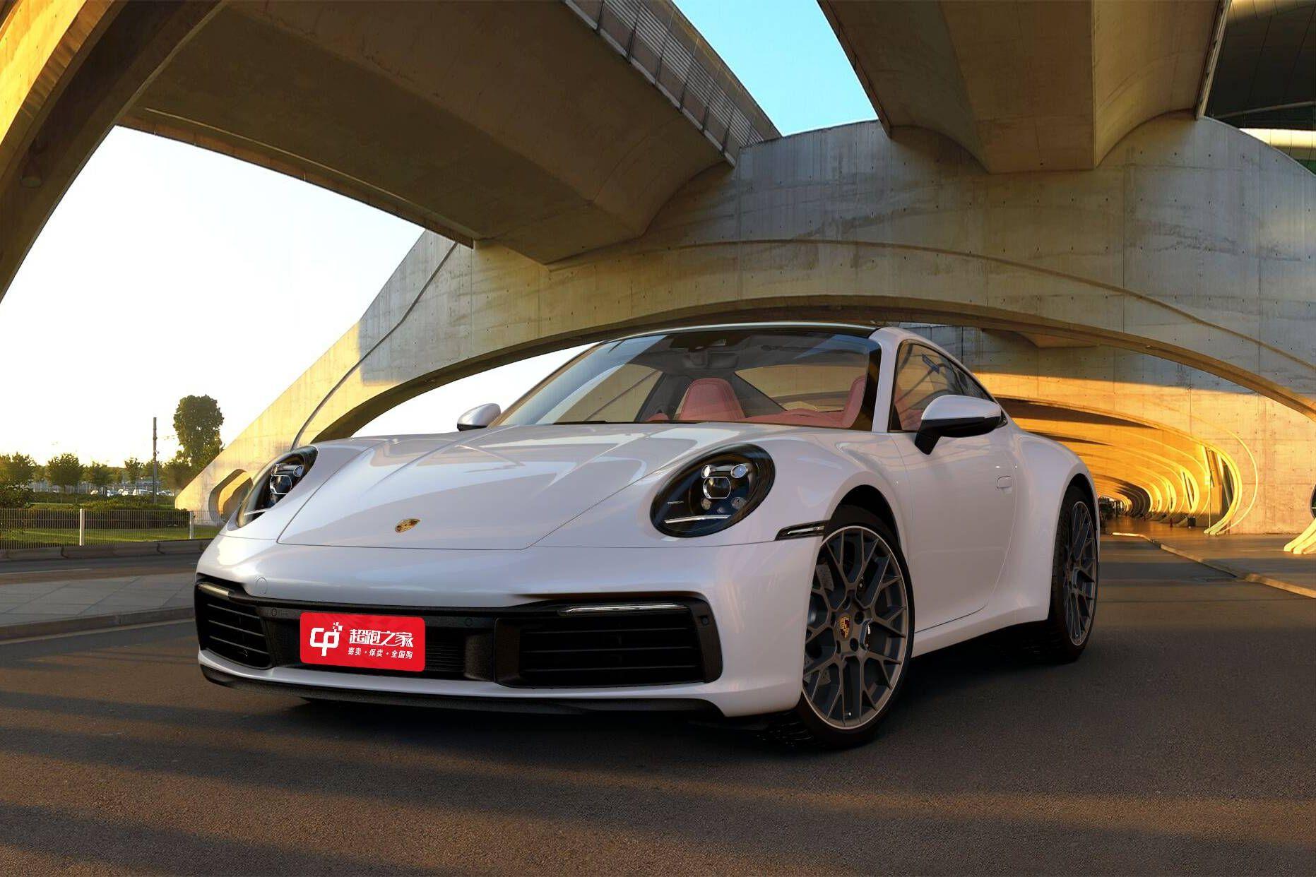保时捷911白色2021年01月