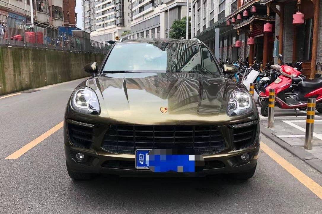 保时捷macan绿色2018年08月