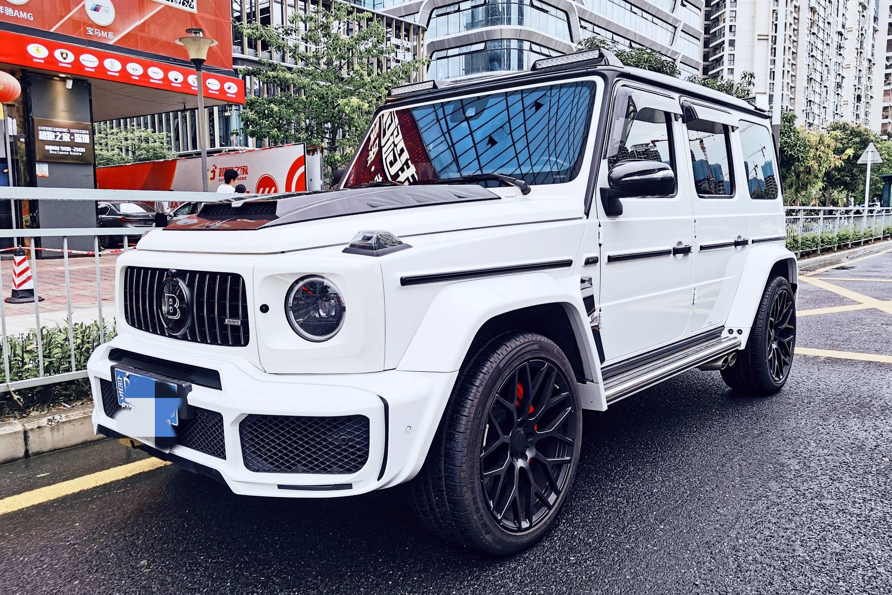 奔驰G级 AMG白色2019年08月