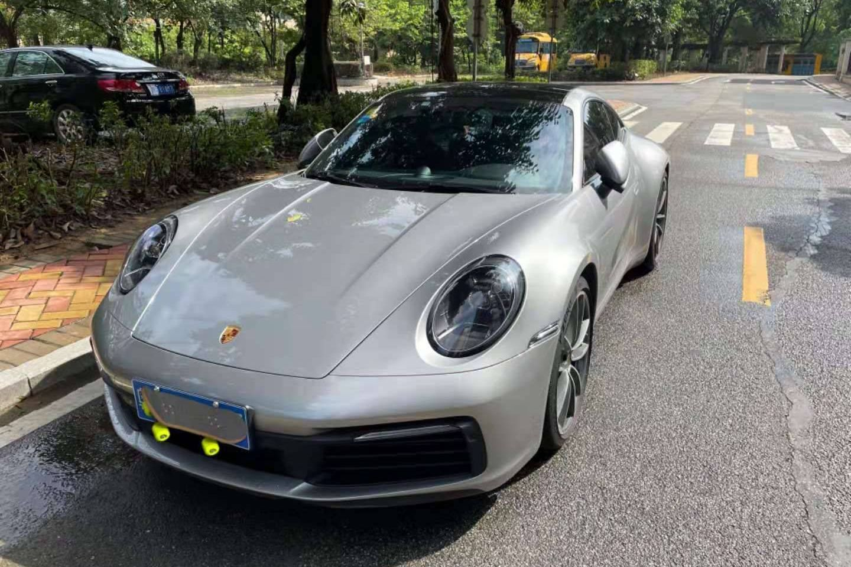 保时捷911银灰色2021年04月